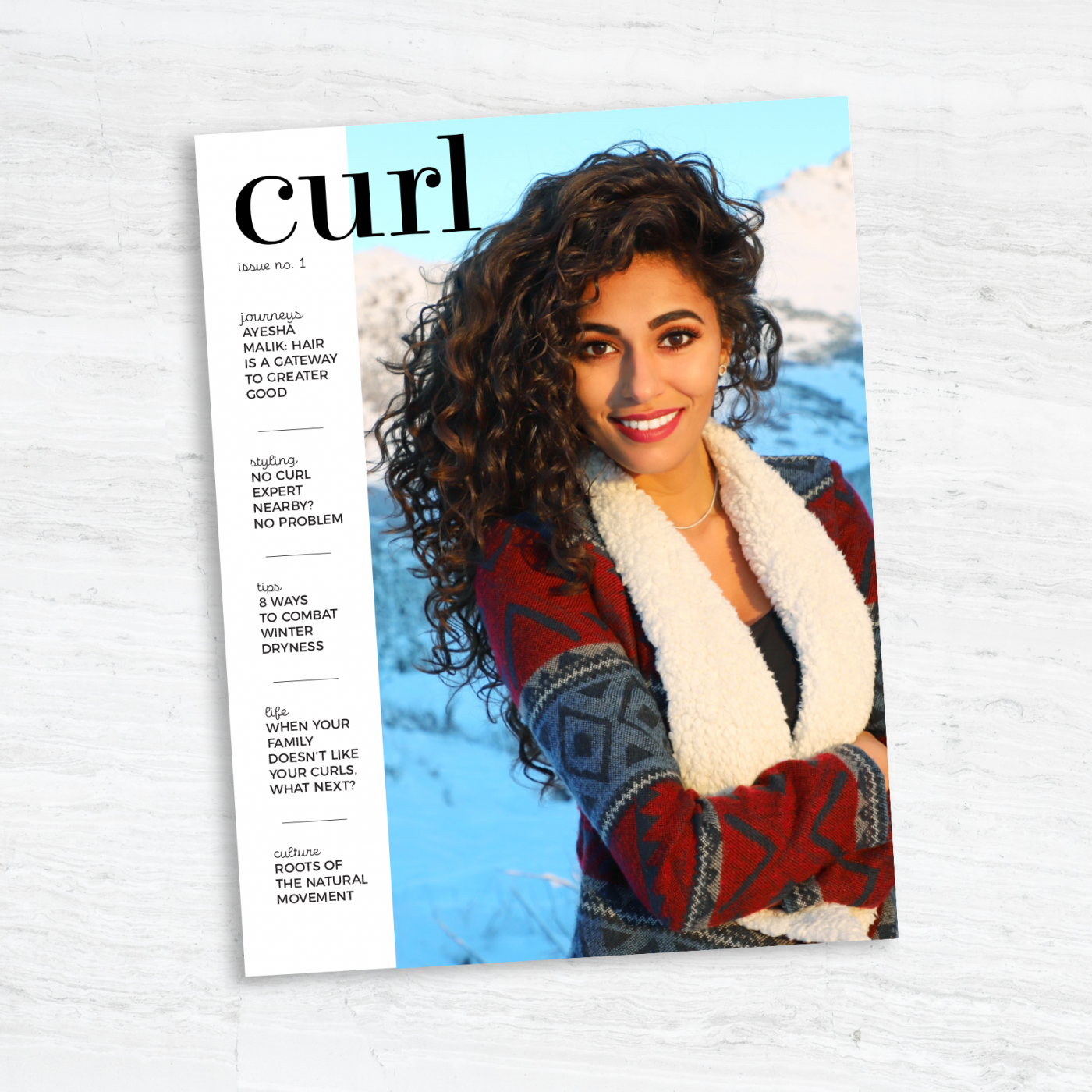 Issue No 1 Curl The Magazine For Curly Haired Humans