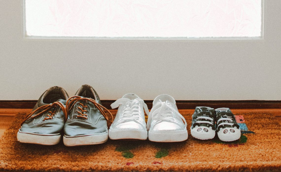 photo of family's shoes
