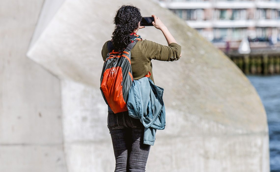 photo of woman traveling