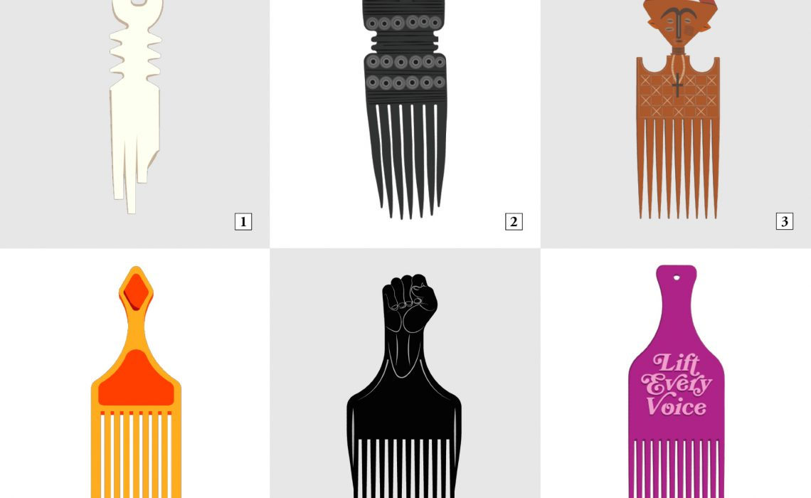 photo of assorted afro picks