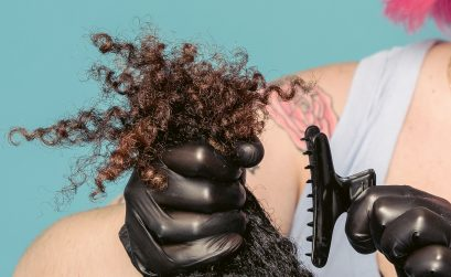 photo of curly hair cut